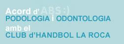 baner acord podologia i odontologia handbol la Roca